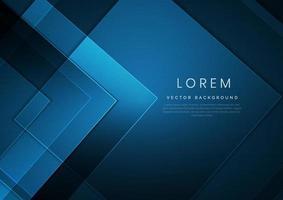 abstrakter moderner quadratischer blauer geometrischer Hintergrund mit Raum für Ihren Text. Technologiekonzept. vektor