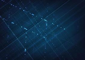 abstrakte Technologie Linien Hintergrund. Technologie-Big-Data-Konzept. vektor