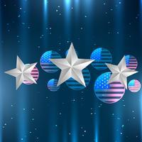 glänsande amerikanska flaggan design vektor