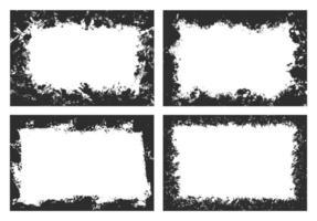 abstrakte schwarze Grunge-Rahmen-Sammlung vektor