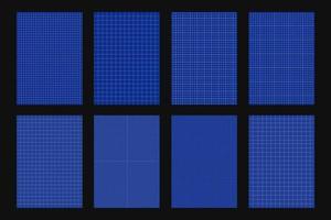 Sammlung von Blaupausenpapierblättern vektor