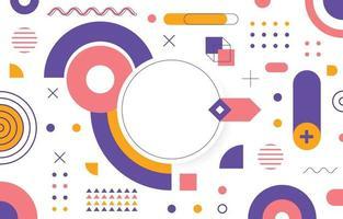 flacher abstrakter geometrischer Hintergrund vektor