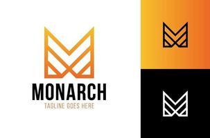brev m krona logotyp kung vektor kunglig ikon. drottning logotyp symbol lyx design.