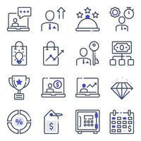 paket med platta ikoner för företag och e-handel