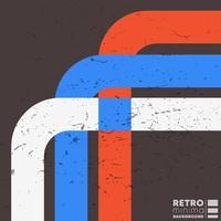 vintage grunge textur bakgrund med retro färg ränder. vektor illustration