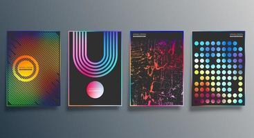 minimales Design mit Farbverlauf für Hintergrund, Tapete, Flyer, Poster, Broschürenumschlag, Typografie oder andere Druckprodukte. Vektorillustration vektor