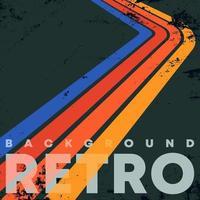 retro färg ränder bakgrund med vintage grunge konsistens. vektor illustration