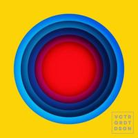 färg cirklar design för flygblad, affisch, broschyromslag, bakgrund, tapeter, typografi eller andra tryckprodukter. vektor illustration