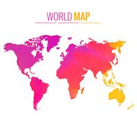 färgrik världskarta vektor design