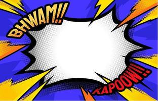 Halbton Comic Onomatopoeia Hintergrund vektor