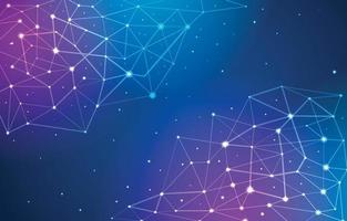 zukünftiger technologischer Verbindungshintergrund vektor