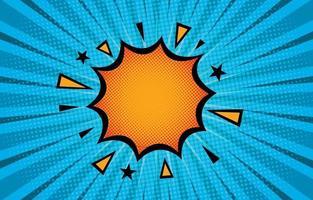 Halbton-Comic-Effekt Hintergrund vektor