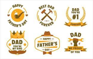 glückliches Vatertagsabzeichen vektor