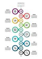 tidslinje diagram affärsinfografisk mall.