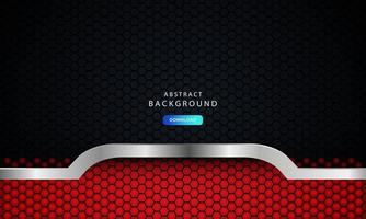 röd abstrakt mörk bakgrundsvektor, modernt företagskoncept med silvereffekt