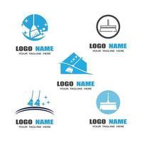 Reinigung Logo-Vorlage vektor