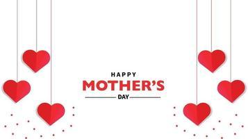 glücklicher Muttertag Herzvektor vektor