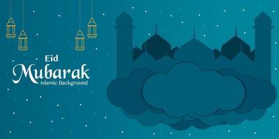 eid mubarak med moskévektor vektor