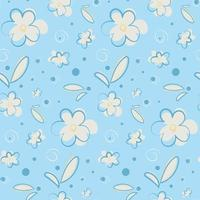 nahtloses Muster mit Blumen und Blütenblättern. vektor