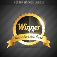 gyllene etikett vektor