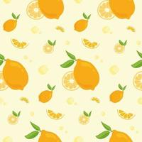 nahtloses Muster mit Orangen. vektor