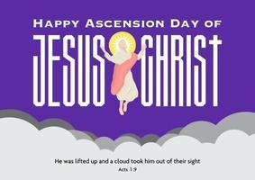 glücklicher Himmelfahrtstag von Jesus Christus vektor