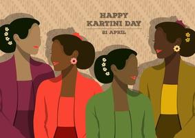 Happy Kartini Day Feier vektor