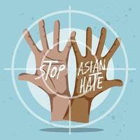 stoppen Rassismus Hände Konzept vektor