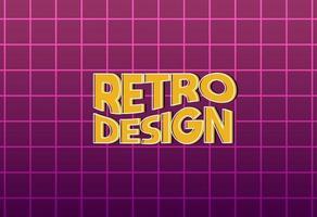 ny minimalistisk retro designbakgrund vektor