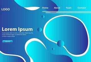 populärer abstrakter Hintergrund mit attraktiven und modernen blauen Farbabstufungen vektor