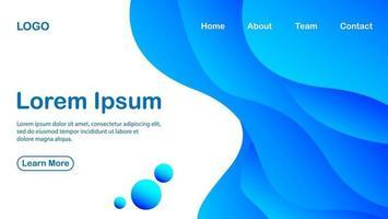 moderner abstrakter Hintergrund mit blauem Farbverlaufskonzept und weißer Farbe vektor
