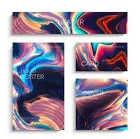 abstrakter flüssiger Hintergrund eingestellt vektor