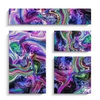 Mischung aus Acrylfarben. abstrakter flüssiger Hintergrund eingestellt vektor