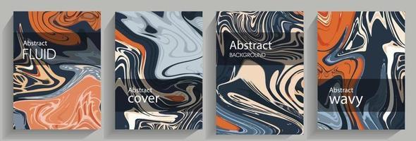 flüssiger abstrakter Hintergrund. bunte Marmorflecken. vektor