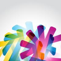 färgglada eleganta eps10 former vektor