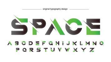 grüne und schwarze futuristische Sport-isolierte Buchstaben vektor