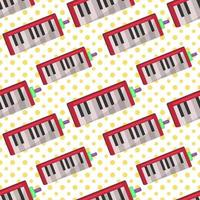 melodica musik instrument sömlösa mönster illustration