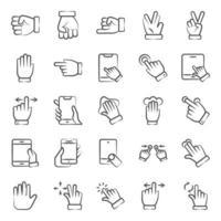 modern pekande och handgest vektor