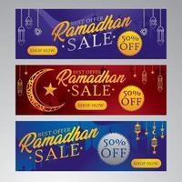 ramadhan försäljning banner koncept vektor