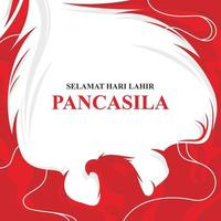 Hari Lahir Pancasila Hintergrund vektor
