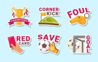 Fußball Aufkleber Sammlung vektor