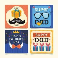 lycklig fars dagskort vektor