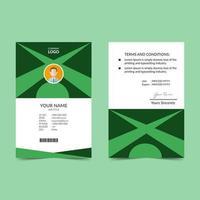 grön elegant ID-kort formgivningsmall vektor