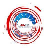 amerikanischer Unabhängigkeitstagentwurf vektor