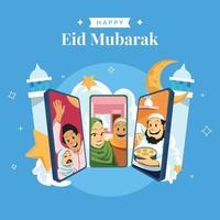 eid mubarak designkonzept vektor