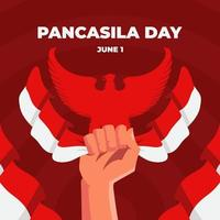 anda av pancasila dag firande vektor
