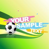 Vektor abstrakten Fußball Hintergrund