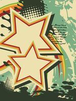 Grunge stjärna vektor retro konst