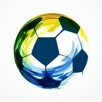 kreatives Fußballdesign vektor