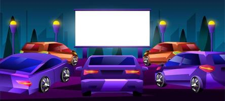 Designkonzept für Autofilme vektor